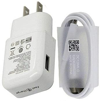 Fast Charger Compatible LG Stylo 4 G5 G6 G7 G8 V20 V30 V35 V30S V40 Samsung Galaxy S10 S10+ S8 Plus S9 S9+ S10 Active Note 8 Note 9,Moto Z Z2 Plus USB Type C Cable with Charger Adapter [White]