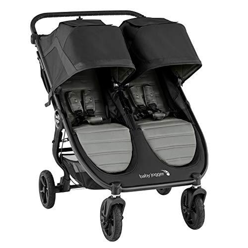 Baby Jogger City Mini GT2 Double All-Terrain Double Pushchair | Lightweight, Foldable Stroller | Slate (Grey)