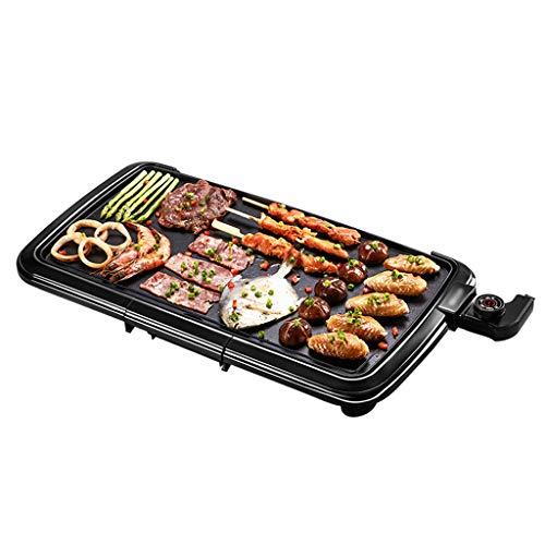 NO BRAND Teppanyaki Grill Plate Electric Hot Plate Griddle BBQ, Placas Calientes para cocinar 2000W BBQ Flat Frying, 5 Speed Control & Drip Tray - 57x30x6.6CM