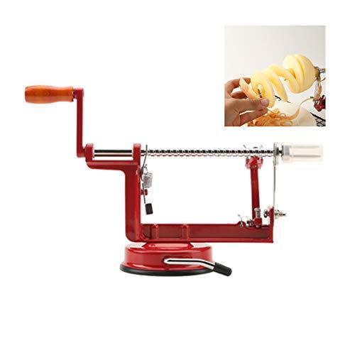 Manueller Apfelschäler, Apfel Schäl Scheibe Kern Entfernen 3 In 1 Funktion, Küchenhelfer Frucht Peeling Messer Apfel Schneidemaschine