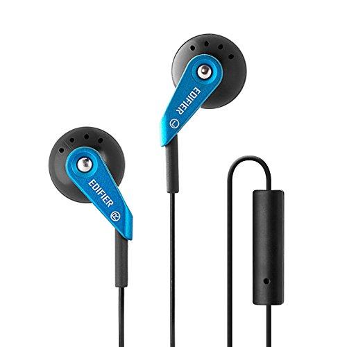 Edifier P185 Computer-Headset Kopfhörer Hi-Fi Klassisches Earbud Design Ohrhörer Mit Mikro Blau
