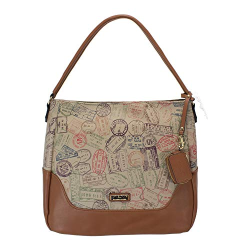ALV by Alviero Martini - Hobo bag SUMMER PASSPORT shoulder-to-shoulder, waterproof and durable for woman