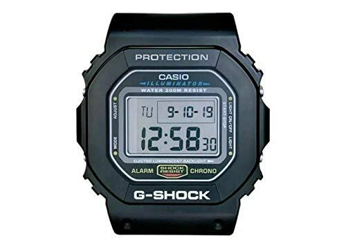 Casio G-Shock Dw-5600 Digitale Wanduhr, Resin, Schwarz, 280 X 60 X 320