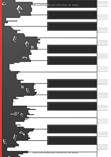 Cuaderno de Composición: Cuaderno de pentagramas - Musica Libreta A4 - 110 Páginas