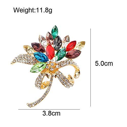 THENZHIA broche sieraden strass bloem voor vrouwen bruiloft boeket corsage zomerjurk decoratie 3 kleuren selecteerbaar