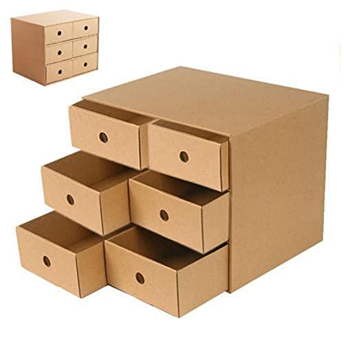 Caja de almacenamiento de escritorio, organizador de archivos, organizador de cajones, montaje de papel kraft, adecuado para libros, papelería, documentos
