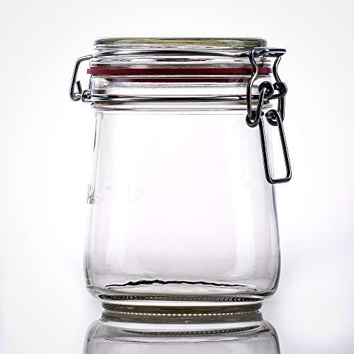 Flaschenbauer- 12 Drahtbügelgläser 800ml verwendbar als Einmachglas, zu Aufbewahrung, Gläser zum Befüllen, Leere Gläser mit Drahtbügel
