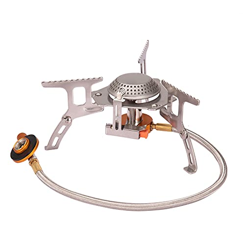Ultralight Portable Outdoor Camping Stove 3000W Gas Powered Backpacking Stove Foldable Split Cookout Hiking Hunting Burner Equipment