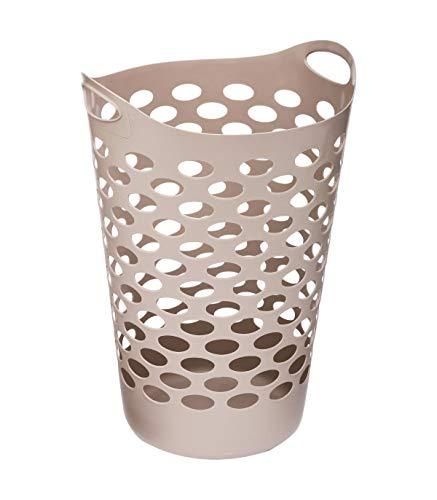 Panier à linge flexible CLEAN HOUSE Taupe 60 L