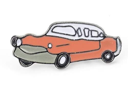 Naehgedoens.de Pin Oldtimer | Auto | Classic Car | Roze Wit | Broche | Speldje | Aansteker