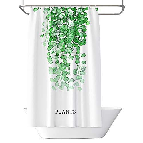 BQEE Stoff Duschvorhang, Badvorhang-Set mit Haken, Dekorative Spa Hotel Wasserdichte Duschvorhänge 72 x 72 Zoll (Blatt L)
