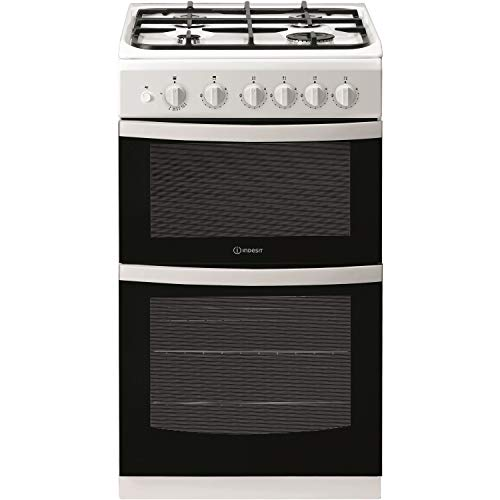 Indesit ID5G00KMW 50cm Double Cavity Gas Cooker - White