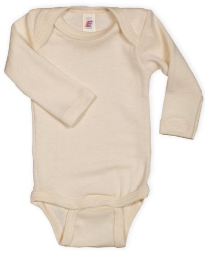 Baby Body langarm, 100% Wolle, Engel Natur, Gr. 86/92