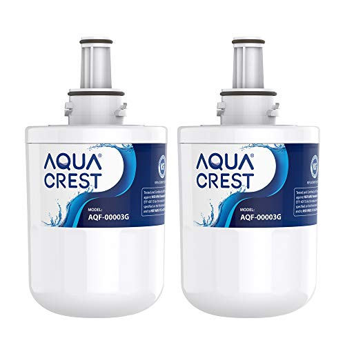 AQUACREST DA29-00003G Kühlschrank Wasserfilter, Kompatibel mit Samsung Aqua Pure Plus DA29-00003G, DA29-00003B, DA29-00003A, DA97-06317A, DA61-00159A, HAFCU1/XAA, HAFIN2/EXP, WSS-1 (2)