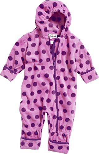 Playshoes Baby-Unisex Fleeceoverall, Fleeceanzug Punkte, Oeko Tex Standard 100 Schneeanzug, Violett (Flieder 10), 62