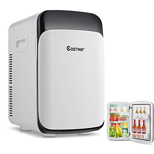COSTWAY Mini Réfrigérateur 15L Mini Frigo 2 en 1 Refroidissement et Chauffage -3 ℃ ~ 50 ℃
