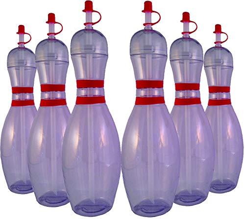 Sierra Novelty Bowling Stuff Wasserflaschen, groß, transparent, 6 Stück