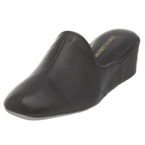 Daniel Green Women's Glamour Slipper,Black Kidskin,8 M