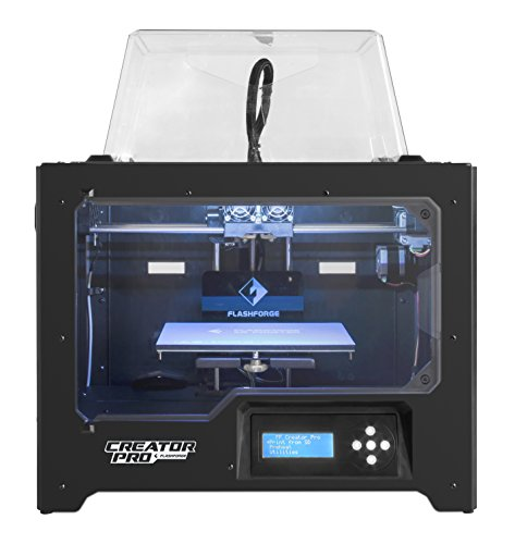FlashForge 3D Printer Creator Pro, Metal Frame Structure, Acrylic Covers,...