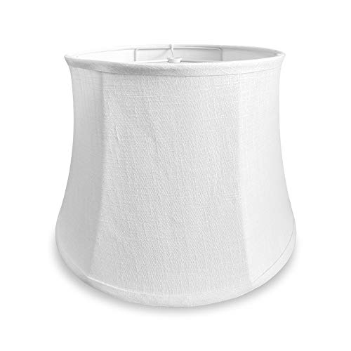 Tootoo Star White Large Drum Lamp Shade for Chandeliers Floor Light and Table Lamp, 12x16x11