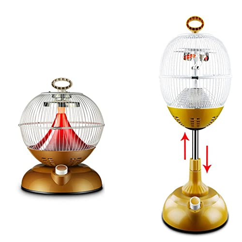 Dongbin Mini-Schnellheizofen Heizung kann angehoben und abgesenkt Werden Vogelkäfig Typ kleine Sonne Haushalt Grillen Schusswaffe energiesparende Elektroheizung 1100W