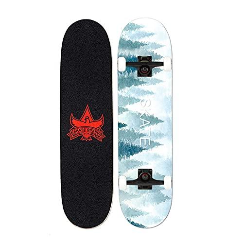 Cinta de agarre de la patineta Skateboards, 80 * 20cm patinetas para adultos u adolescentes, tablero de skate de arce crucero, incluyendo ruedas de PU, patrón de colores, rodamiento, camión Para patin