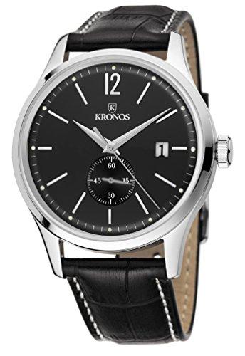 Kronos Herren Uhr Analog Quarz mit Leder Armband 766,55