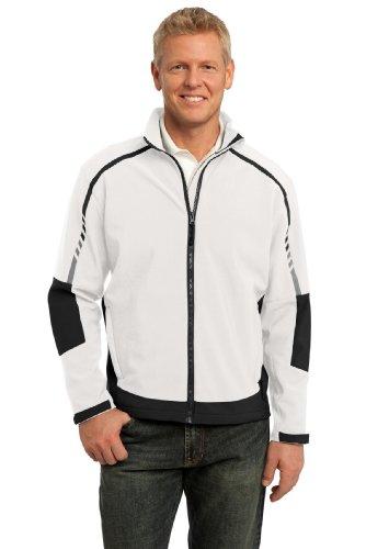 Port Authority® Embark Soft Shell Jacket. J307 Sea Salt White/Deep Grey XS
