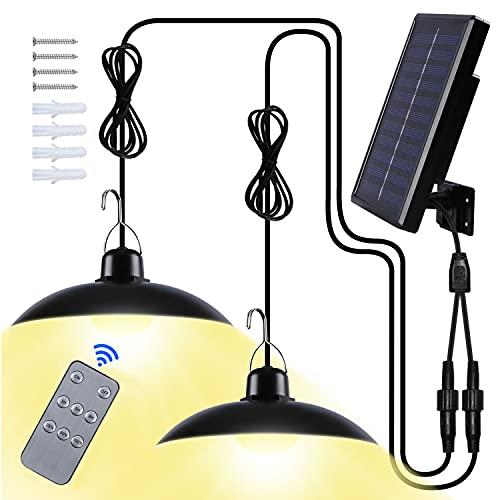 Luz Solar Exterior, Luz Solar LED para Exteriores IP65 Impermeable Focos LED Exterior Solares para Terraza/Jardín(Luz Calida)