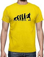 Latostadora Camiseta Evolución de Fútbol Color Amarillo para Hombre