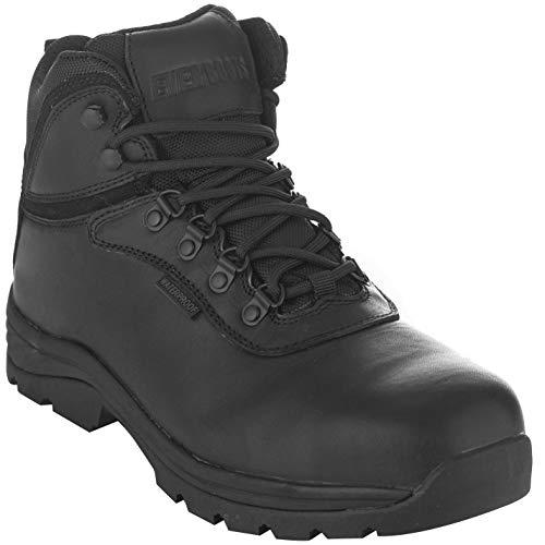 EVER BOOTS Men's Steel Toe Waterproof Industrial Work Boot (11 Wide, Black)