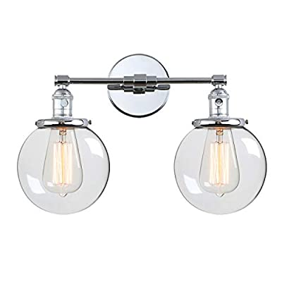 Phansthy Vintage Double Sconce Globe Wall Sconce