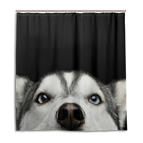 ALAZA My Daily Siberian Husky H& Duschvorhang 177,8x 177,8cm, schimmelresistent und Wasserdicht Polyester Dekoration Badezimmer Vorhang