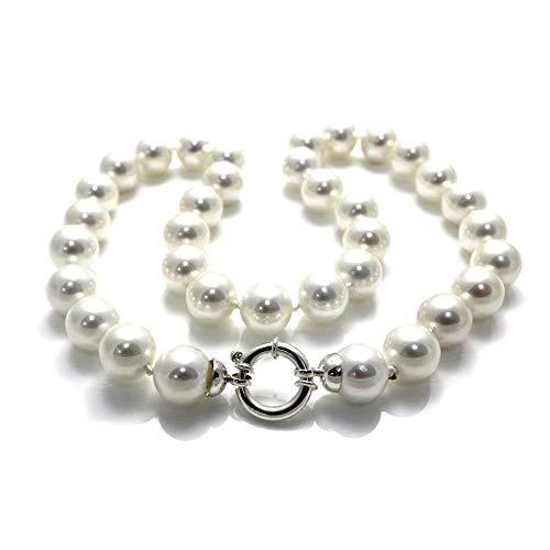 925m Silber Perlenhalsband 12mm Gesetz. Reasa Schale marine [AC0296]