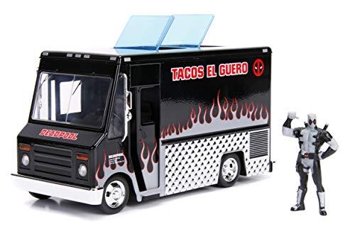 Jada Toys Deadpool Diecast Model 1/24 Deadpool Taco Truck X-Force Ver. Fahrzeuge