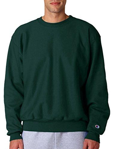 Champion Men`s Reverse Weave Crew Dark Green