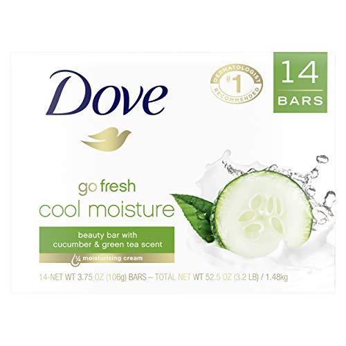 Dove Soap Bar Cool Moisture 3.75 oz 14 Bars