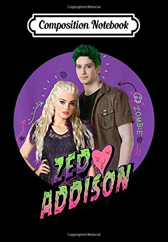 Composition Notebook: Disney Channel Zombies 2 Zed and Addison Love, Journal 6 x 9, 100 Page Blank Lined Paperback Journal/Notebook
