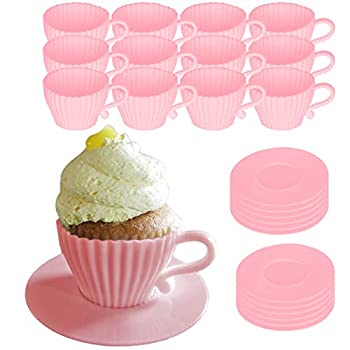 Best silicone teacup cupcake molds Reviews