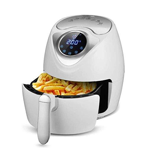 2.6L Digital Air Fryer zonder olie, gezond friteusgehalte met timer en instelbare temperatuurregeling, 1300 W, fornuisbrander met oven, receptenboekje (kleur: wit) Wit.