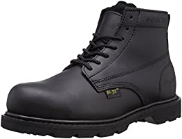 Ad Tec Mens 6 Inch Ideal Uniform Work Boots with Composite Plastic Toe, Non Metallic Shank, Oil-Resistant and Electrical...