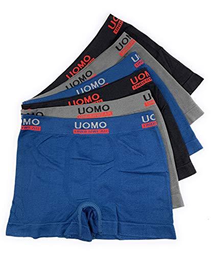Laake 6 Stück Kinder Jungen Unterhosen Microfaser Retro-Pants Boxer Shorts Schlüpfer Uomo Unifarben Sport (Sport-uni-02, 128-140)/10-12