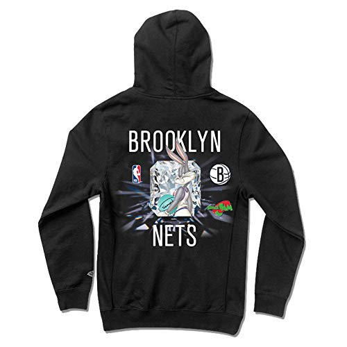 Diamond Supply Co. x NBA Space Jam 2 Men's Brooklyn Nets Long Sleeve Pullover Hoodie Black L