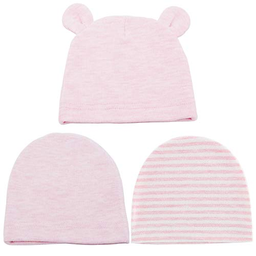 Juzzae Gorro para recién nacido con orejas de oso, gorro de bebé, para primavera, verano, para niños de 0 a 6 meses