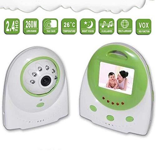 SWEET Moniteur pour Bébé avec 2 Caméras Fonction Panoramique Et Inclinaison De 2.4 Pouces À Écran LCD avec Fonction De Détection De La Température par LED Infrarouge De 850 Nm