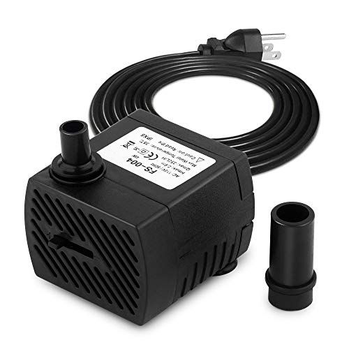 FREESEA 95GPH 4W Ultra Quiet Mini Submersible Pump for Aquariums, Fish Tank, Pond, Fountain Water Pump