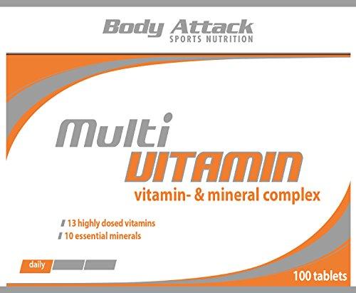 Body Attack Multi Vitamin, 200 Tabletten, 2er Pack (2x 140g), Dose - 2