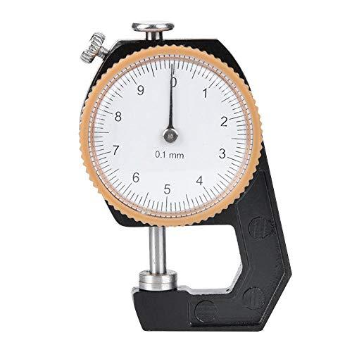 0~10 mm diktemeter, platte kop diktemeter wijzerplaat voor leren doek meetnauwkeurigheid 0,1 mm