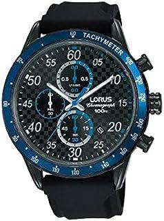 RM337EX9 - Lorus Sports, Quartz, 100m Water Resistant, Chronograph, Tachymeter, Silicone Strap, Black and Blue