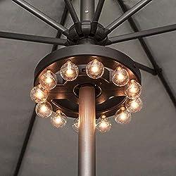 powerful Umbrella light, LED outer umbrella light Battery-powered radio remote control, …
